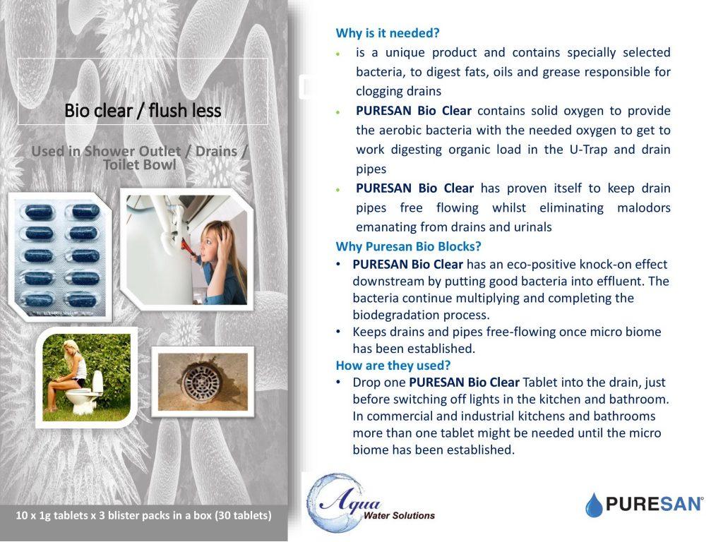 Bio Clear Flushless Blocks Info