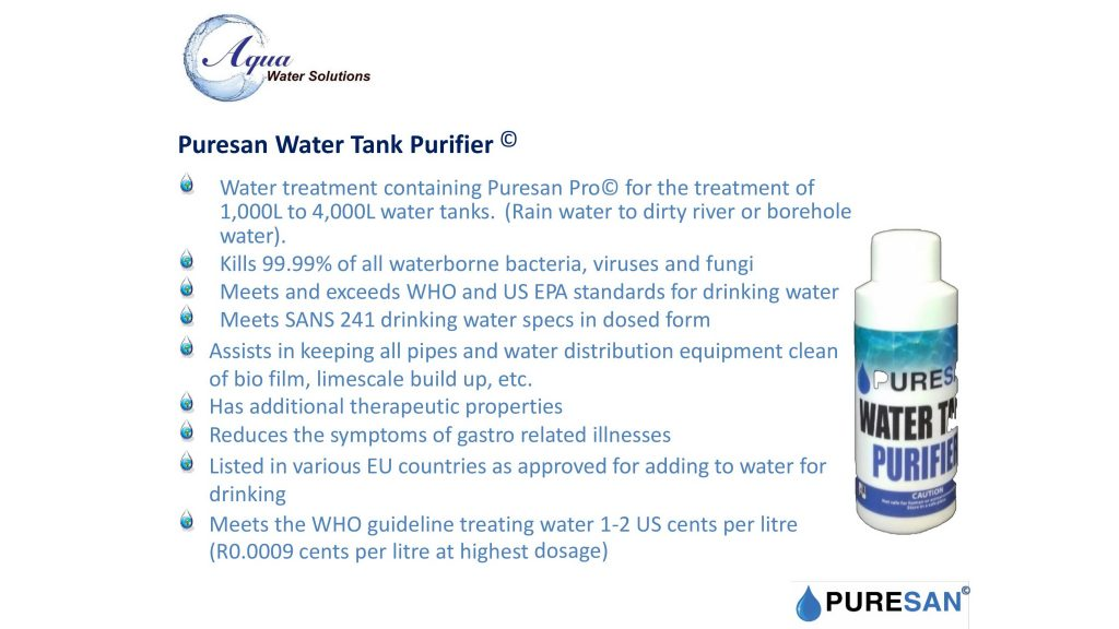 Water Tank Purifier Info